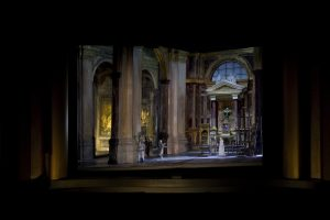 A set model for David McVicar's new production of Tosca. Set designer: John Macfarlane Photo: Metropolitan Opera Technical Department