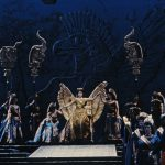 A scene from Rossini's Semiramide. Photo by Winnie Klotz/Metropolitan Opera.